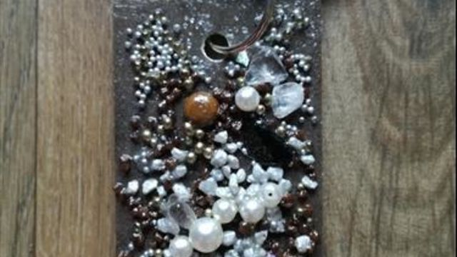 """3 bijoux """"cuir & pierres""""/ spéc. enter. vie jeune fille"""
