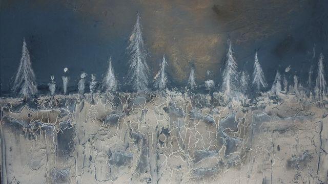 Paysage hivernal au powertex