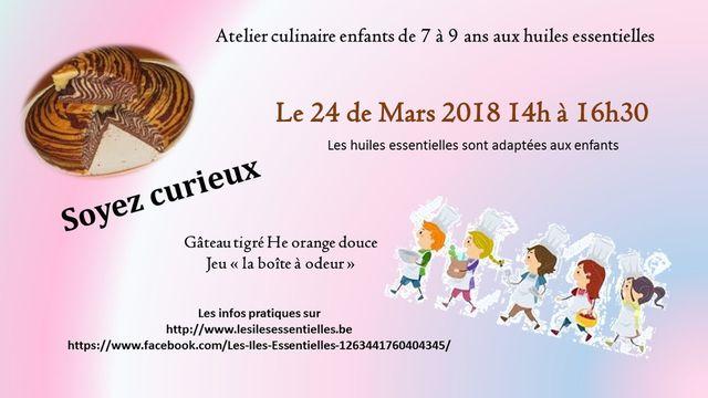 Atelier culinaire enfants 7/9 ans aux huiles essentiell