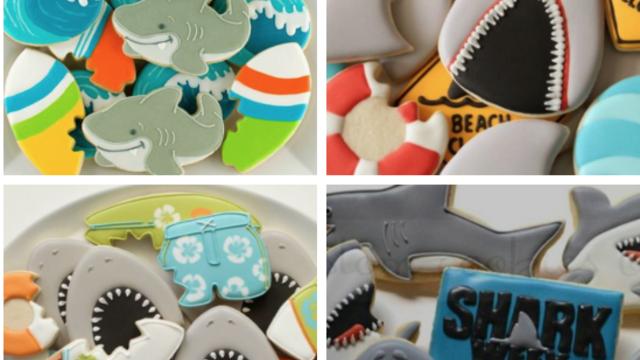 """Mini Atelier Cookie Decorating thème """"Shark Week"""""""