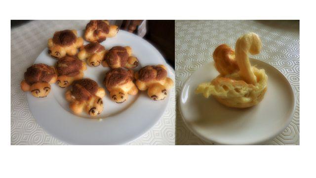 Choux à la crème (cygne ou tortue)