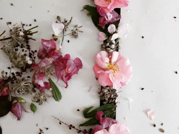Atelier d'art floral  et nature enfant .