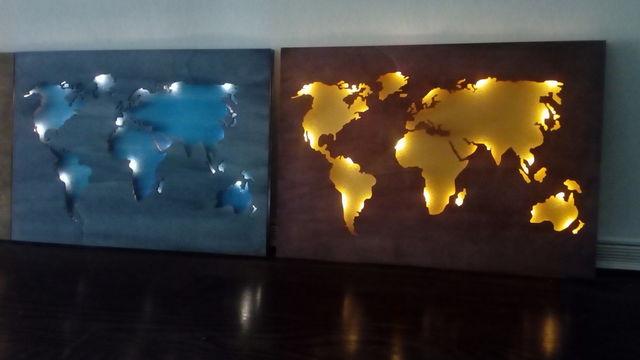 Création d'un planisphère en bois