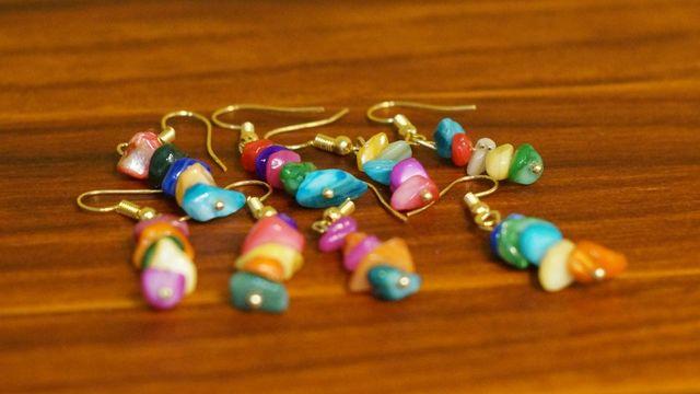 """Boucles d'oreilles """"5 petites pierres"""""""