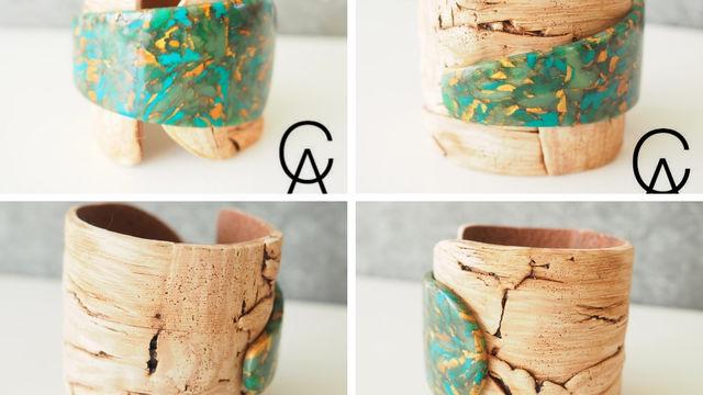Atelier bracelet imitations bois flotté et pierre