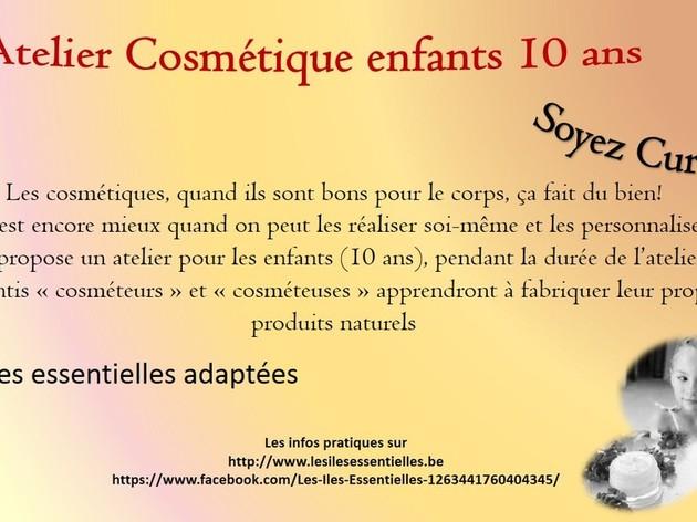 Atelier cosmétique enfants 10 ans
