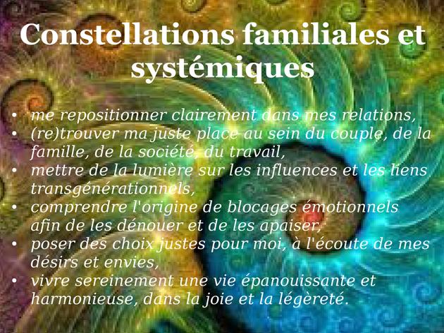 Constellations familiales et systémiques