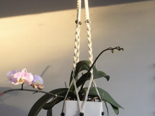 Macramé: suspension pour plantes