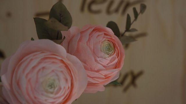 Fleur en papier - la renoncule