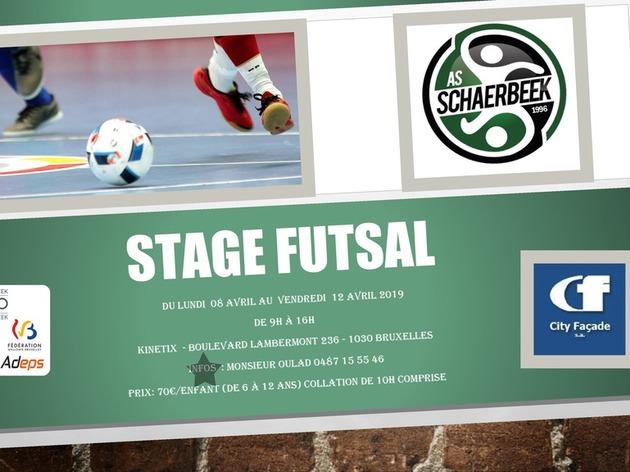 Stage futsal de l'As City Façade Schaerbeek