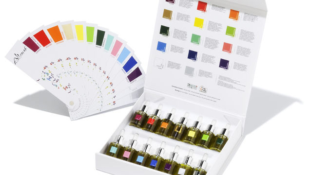 Les couleurs et l'olfaction des huiles essentielles.