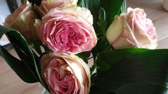 Art floral avec des fleurs fraîches