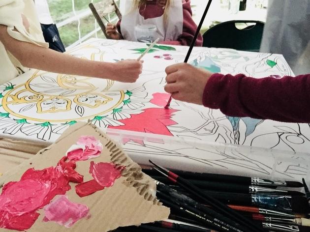 Atelier intergenerationnel  peinture acrylique