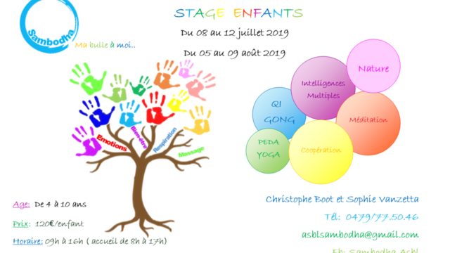 stage enfants (Yoga, Qi Gong, intelligences multiples)