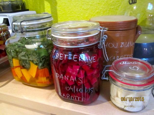 Lacto-fermentation – conservation des légume