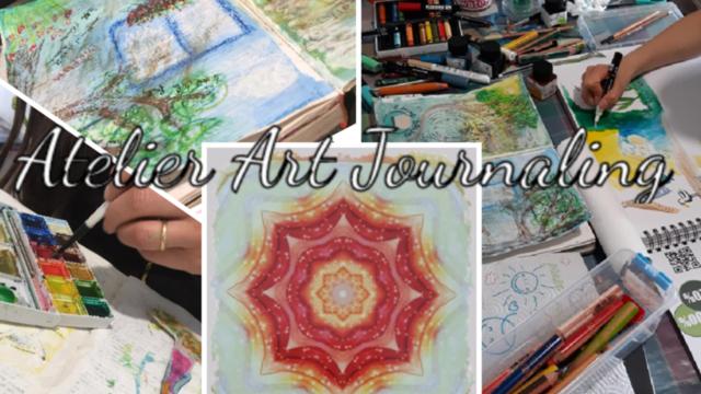 connecter son flux créatif: art journal & papier marbré