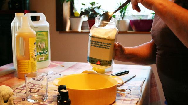 produits au nettoyage O déchet