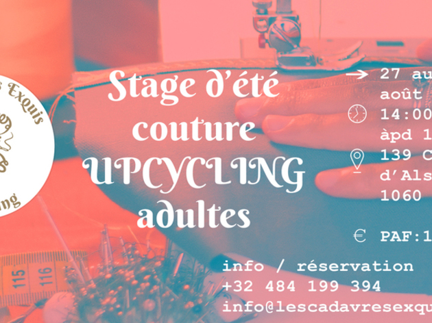 Stage Adultes de Couture Upcycling