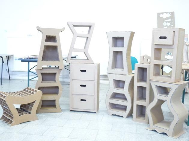 Atelier atelier meubles en carton 1001 belges for Meuble carton facile