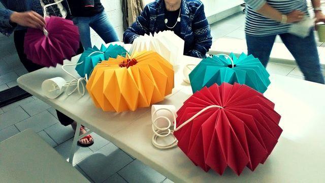 Fabrique ta lampe Origami
