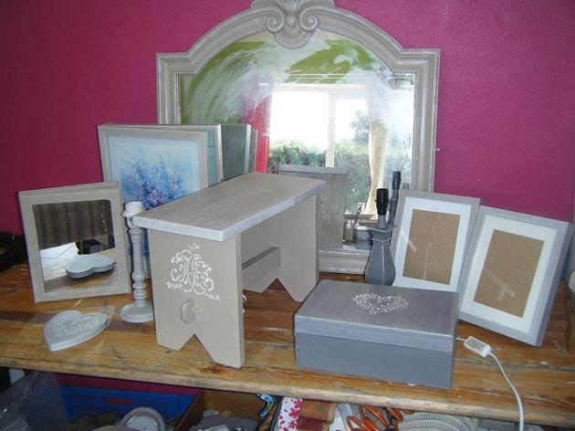 Relooking de meuble sans d capage patine atelier for Peinture meuble sans decapage