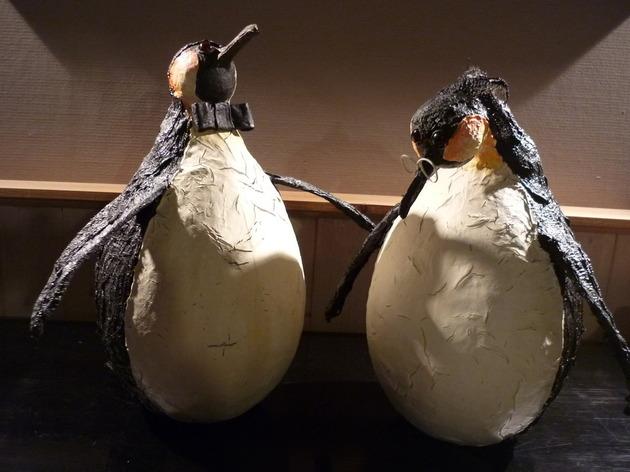 Pingouin rigolo au powertex workshop sculptuur en - Pingouin rigolo ...