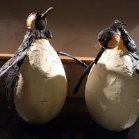 Pingouin rigolo au powertex atelier sculpture et poterie - Pingouin rigolo ...