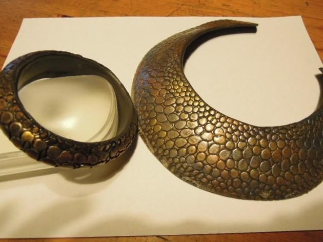 Imitation peau de serpent en pâte polymère