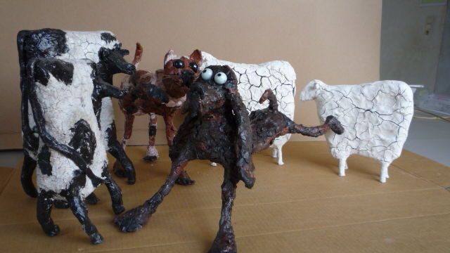 Atelier Powertex sculptures animaux cocasses