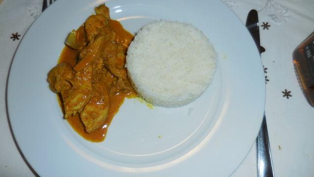 Poulet à la sauce curry