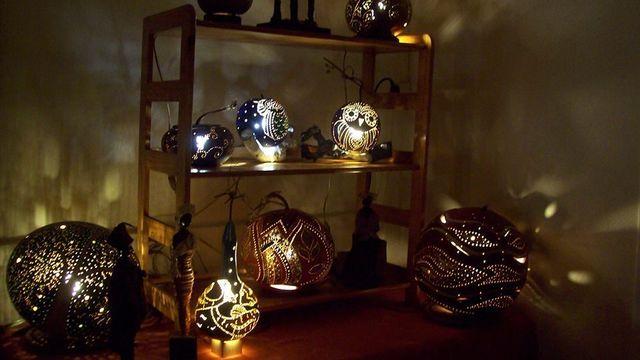 Atelier lampe calebasse
