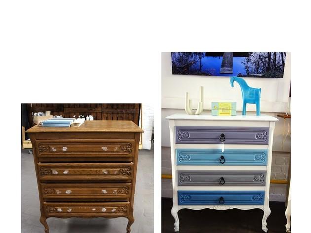 envie de relooker votre meuble atelier peinture par anja van de velde. Black Bedroom Furniture Sets. Home Design Ideas