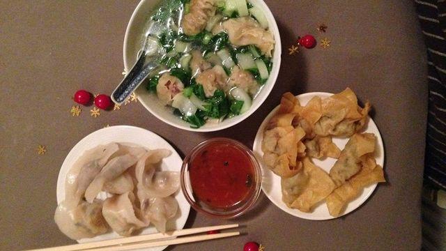 Dimsum, soupe de wonton, raviolis chinoise