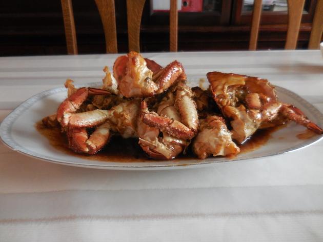 Cua rang me (Crabe à la sauce tamarin)
