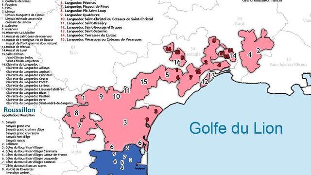 Vignoble du Languedoc Roussillon et Sud Ouest