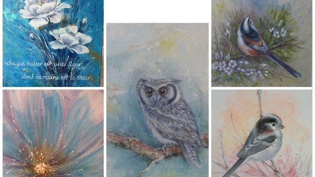 initiation à la peinture acrylique ,aquarelle,dessin