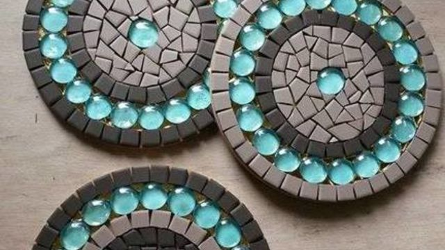 Mosaïque (débutantes): réalisez un bijou de table