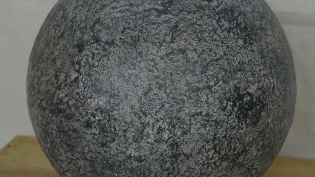 Sphère effet pierre ou rouille au powertex