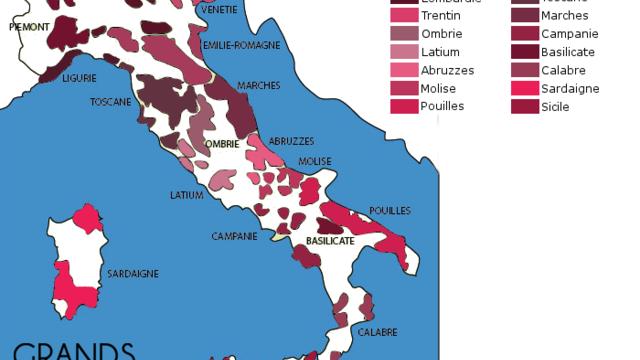 Découverte du vignoble Italien et de ses sous régions.