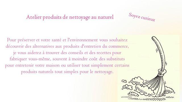 Produit de nettoyage au naturel