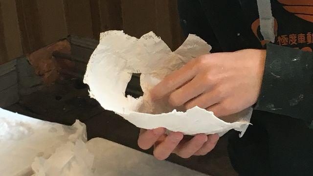 Découverte d'une technique : masque en tarlatane