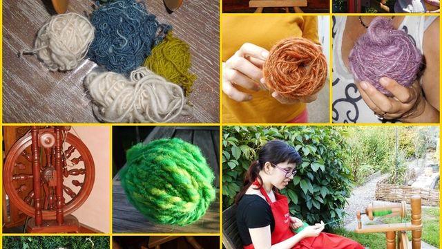 Initiation au filage de la laine au rouet