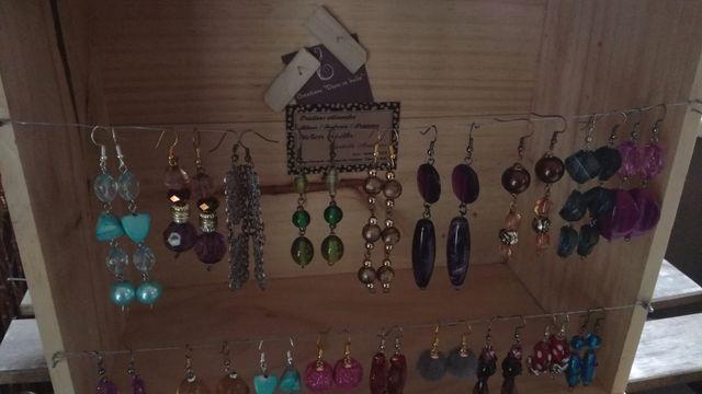 """3 bijoux """"cuir & récup"""" / Atelier individuel"""